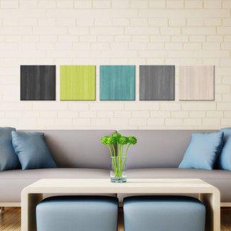 'Natural Balance' by Celeste Reiter 5 Piece Painting Print Plaque Set