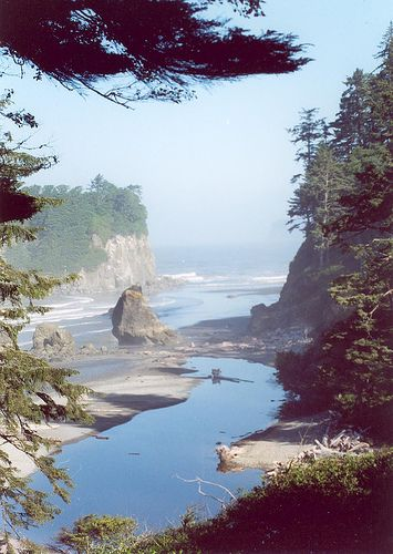 Neah Bay, WA is part of the Makah Indian Reservation, and sits at the northwest tip of the Continental U.S. The 3/4 mile Cape Flattery Trail will reward you with gorgeous views.