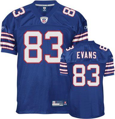 Reebok Buffalo Bills Lee Evans 83 Blue Authentic Jersey Sale