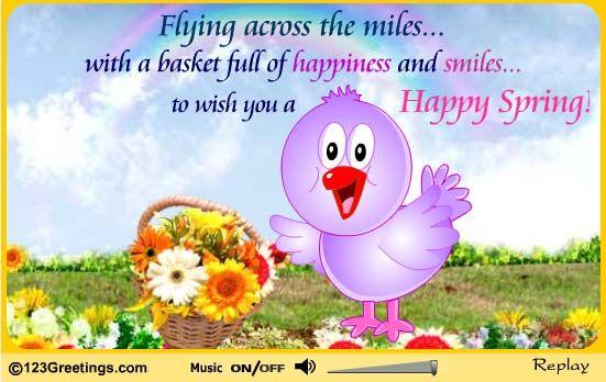 Happy Spring day to everyone! May this new season bring ...