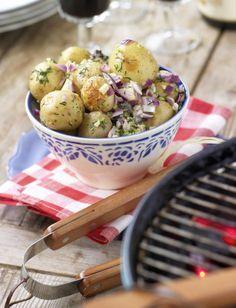 Ugnsrostad potatissallad med pepparrot