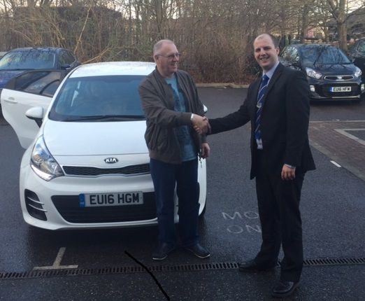 Another happy handover of a new ‪#‎16Plate‬ Kia Rio, this time to Mr May!