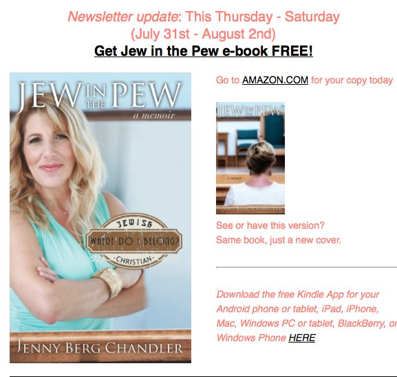 FREE Ebook!!! For Three Days Only Get JEW IN THE PEW For Free on Amazon