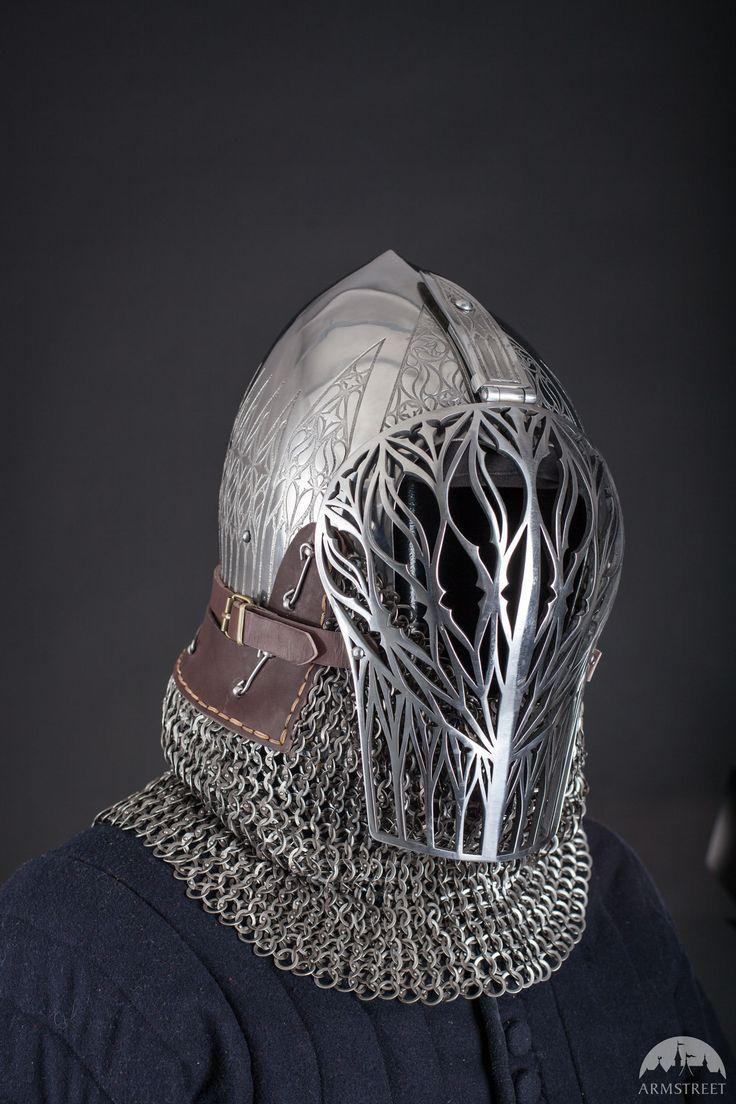 Foliate Medieval Helmet Visor