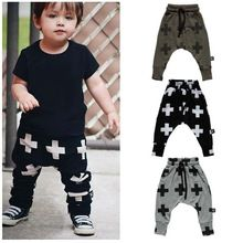 2015 New Fashion Boys Pants Harem Pants For Girls  Cross Star Children Boy Toddler Child Trousers Baby Clothes(China (Mainland))
