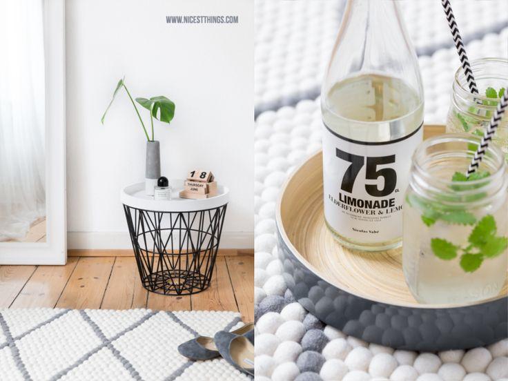 Filzkugelteppich mit Rautenmuster fürs Schlafzimmer | Nicest Things - Food, Interior, DIY: Filzkugelteppich mit Rautenmuster fürs Schlafzimmer