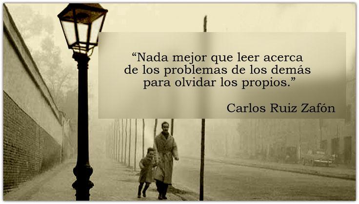 Las 20 mejores frases de Carlos Ruiz Zafón ~ El Cementerio de los Libros Perdidos