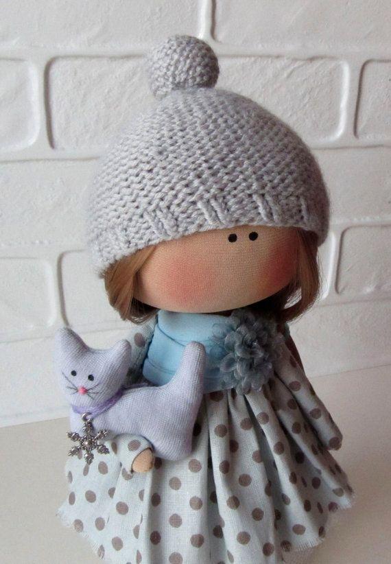 Lerika Doll-Handmade Dolls-Textile Dolls-Fabric Doll-Rag