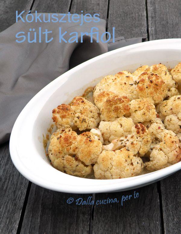 Kókusztejben sült fűszeres karfiol