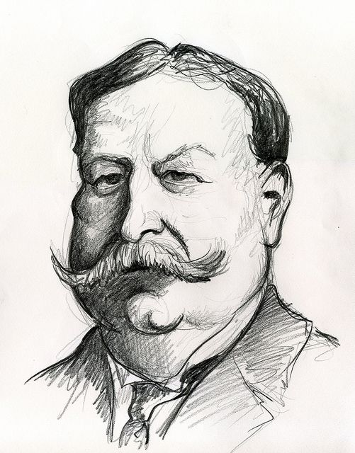 William Howard Taft, 27th President of the United States 1909-1913.