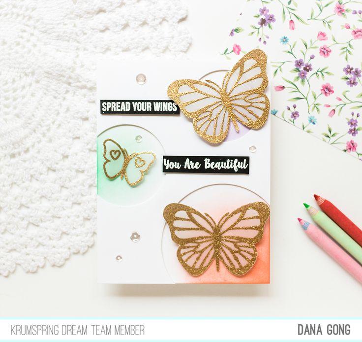 Dana Card Design: CAS cards  Krumspring stamps April Release Replay