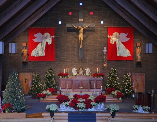 Christmas decorating ideas for church sanctuary wall decal