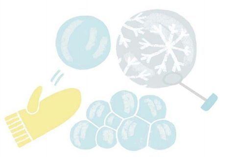 Делаем ледяные мыльные пузыри.  Если на морозе (от –7ºС) надуть мыльный пузырь, он у вас на глазах покроется ледяными узорами и превратится в хрустальный шар. Чем ниже температура, тем быстрее пузырь замерзнет. Идеальная температура для кристаллизации –15ºС. Чтобы ускорить процесс, на мыльный пузырь можно опустить снежинку или положить его на снег. В зависимости от температуры воздуха пузыри могут получиться эластичными или хрупкими. Выдувать пузырь можно через специальную трубочку…
