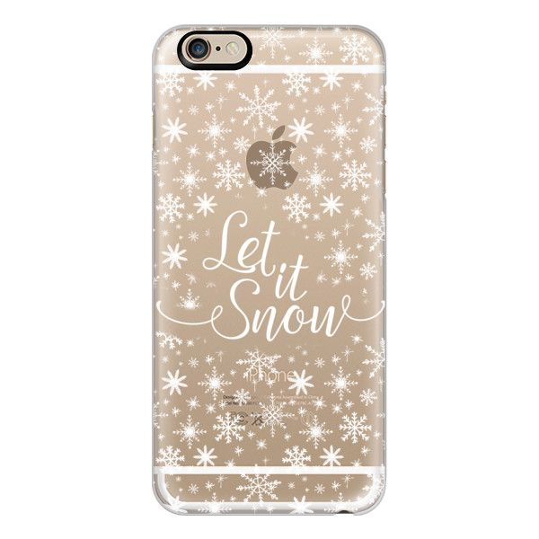 iPhone 6 Plus/6/5/5s/5c Case - Let it snow found on Polyvore featuring accessories, tech accessories, phone, phone cases, electronics, cases, iphone cases, iphone cover case, apple iphone cases and iphone case