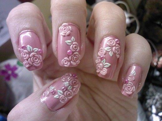 50 Diseños de Uñas con Flores en 3D - Flores Acrilicas - ε Diseños e Ideas originales para Decorar tus Uñas з