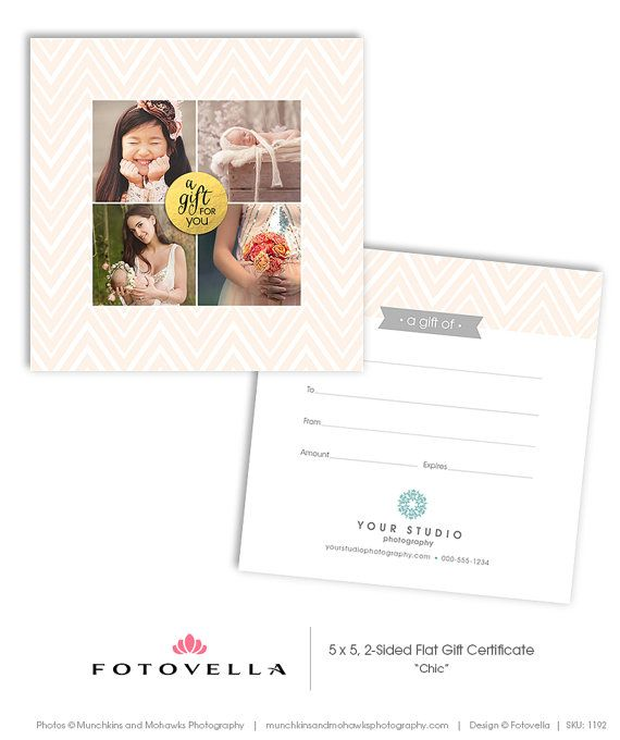 53 best Photography Marketing Templates images on Pinterest - photography gift certificate template
