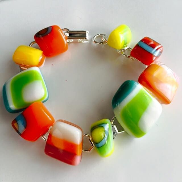 Handmade, fused glass jewelry by Miss Olivia's Line. #MOL Additional items…