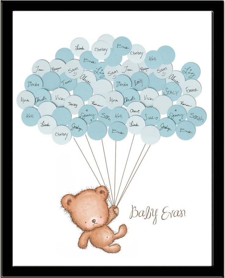 Baby Shower Sign In Guest Book Print Teddy Bear