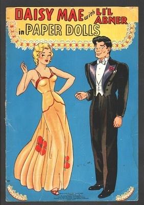 DAISY MAE WITH LI'L ABNER PAPER DOLLS 1942 PARTLY UNCUT