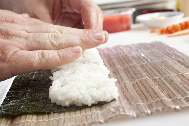 Cooked sushi rice and seaweed #sushi #seaweed #rice