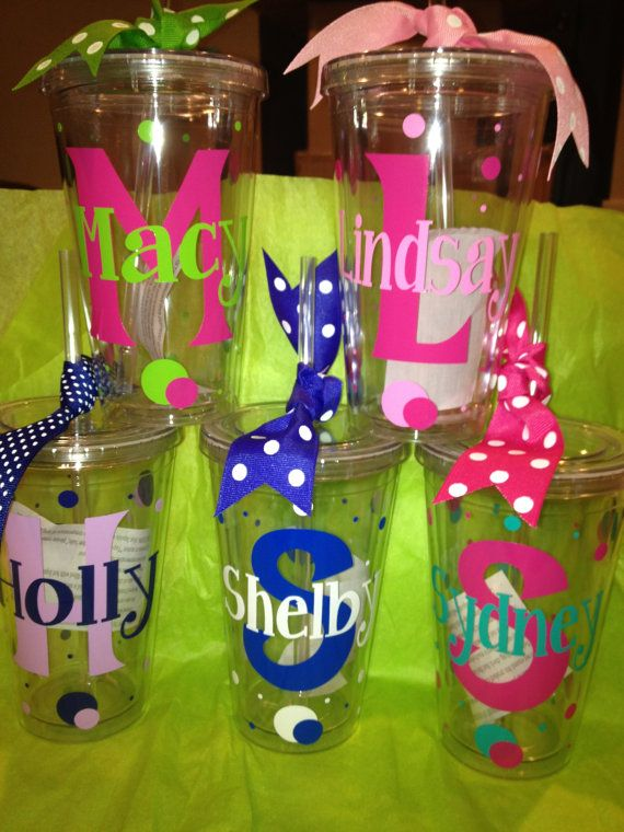 Personalized  Tumbler 16 oz w/Straw BPA Free  Birthday by cgirard5, $10.00