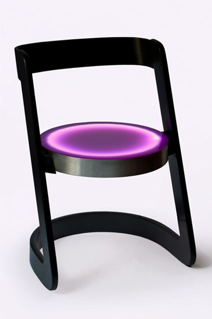 ECLIPSE - wood, aluminium, plexiglas, led light