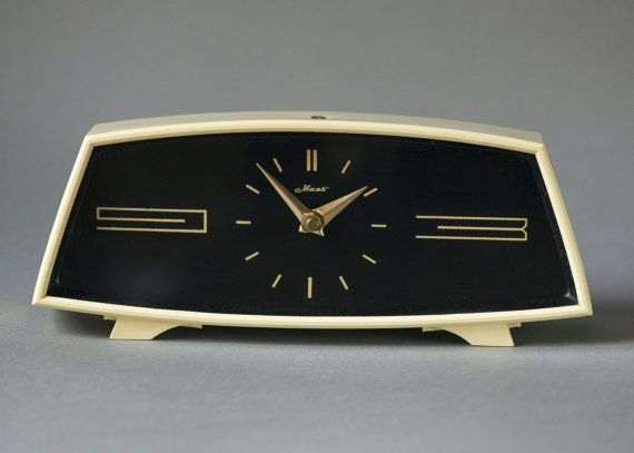 Minimalist desk clock Majak\Lighthouse black beige clock Soviet table clock mechanical 60s elegant clock Christmas gift