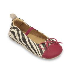 The Fashionista Flat- Black & White Zebra/Hot Pink
