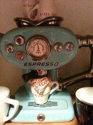 Old fashioned espresso machine