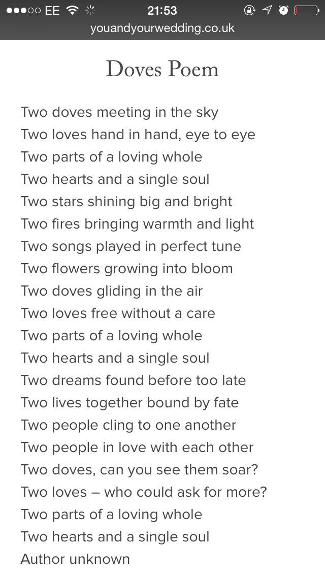 Wedding Readings Poems Poetry Poem