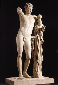 One of masterpieces of Ancient Greece! Statue of Hermes made by scluptor Praxitelis.