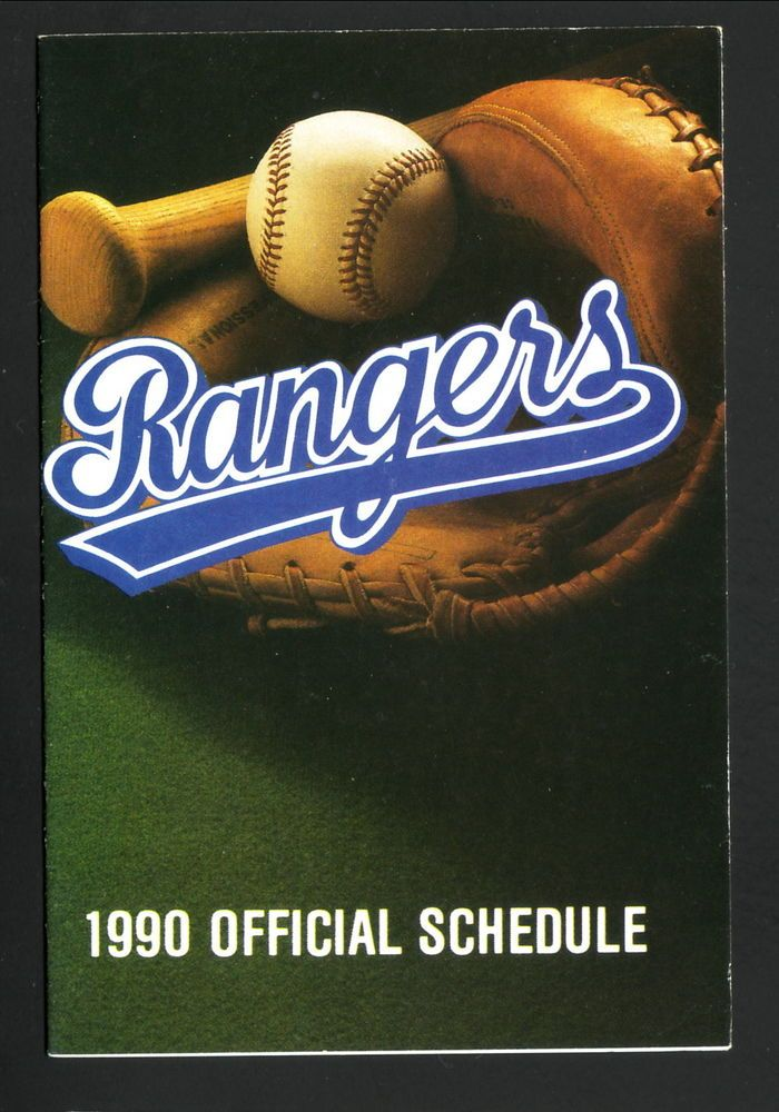 1990 texas rangers schedule--hse from $0.99