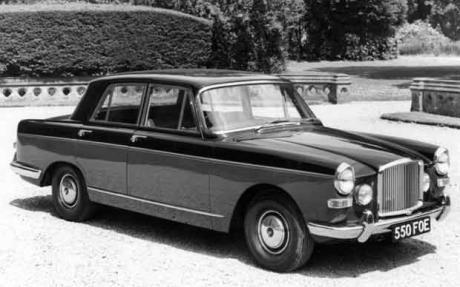 Classic Vanden Plas Princess 4-litre R. Our's was Black over Green, Reg LMM 650C.