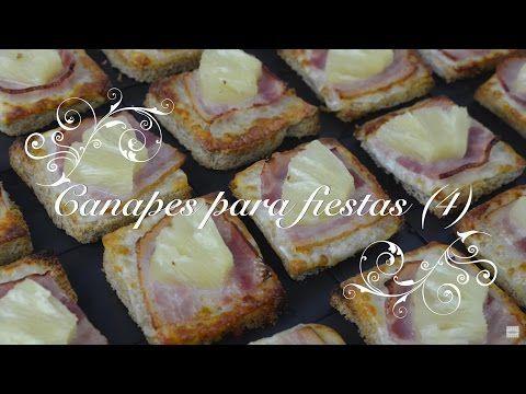 Canapes para fiestas 4 | Canapes faciles y baratos | Canapes faciles y rapidos por chef de mi casa - YouTube