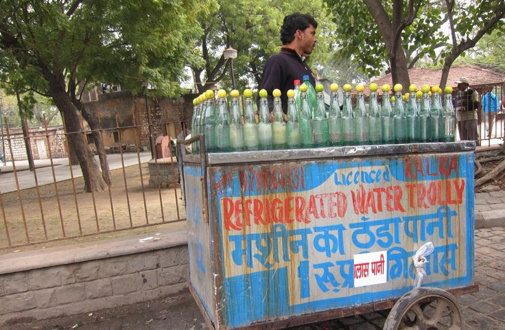 For the brave and extremely thirsty.  Street vendor, Delhi.