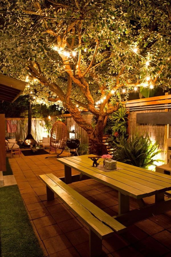 ideas para decorar patios para la noche barbacoaparrillaoutdoor lightinglighting designbackyard - Landscape Lighting Design Ideas