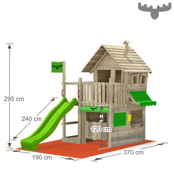 Luxury Spielturm CountryCow Maxi FATMOOSE Spielturm GartenSpielhaus GartenKinder