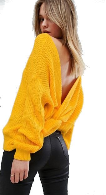Misguided Twist Back Oversized Jumper - ASOS Blog, Autumn Winter 2017, emergingstyles.com blog