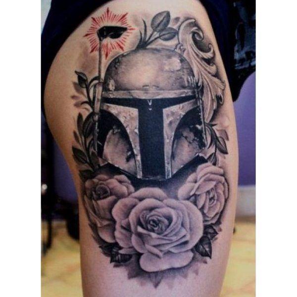 Nice twist on tattoo style from star wars tattoo may the for Luke skywalker tattoo