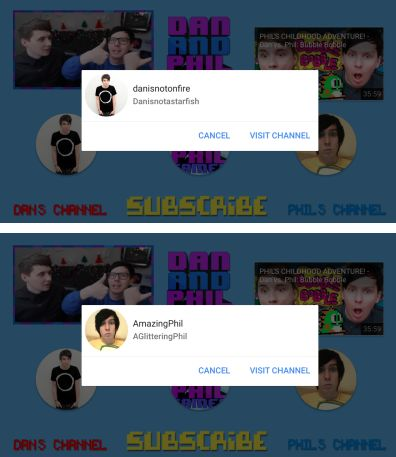 Channel displays for WILL DAN AND PHIL PRESS THE BUTTON??