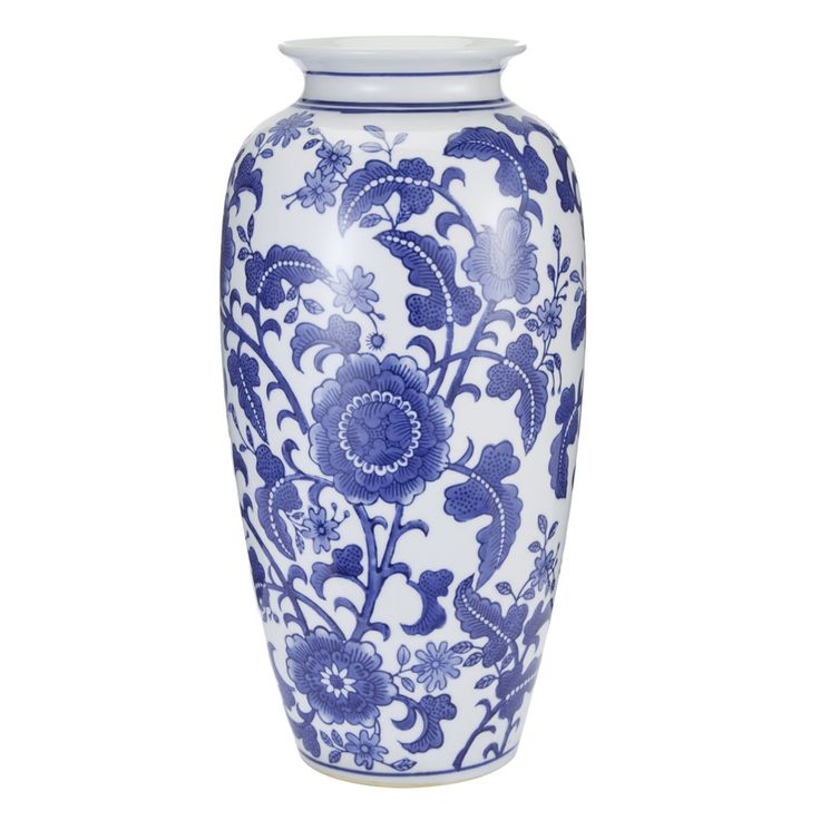 China Blue Large Porcelain Vase #LauraAshley