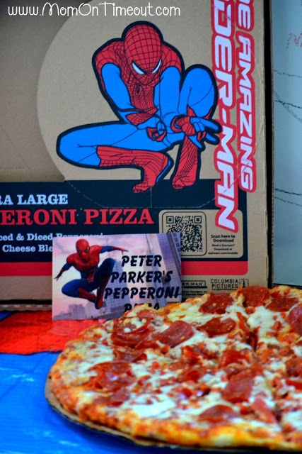 Spider-Man party pizza