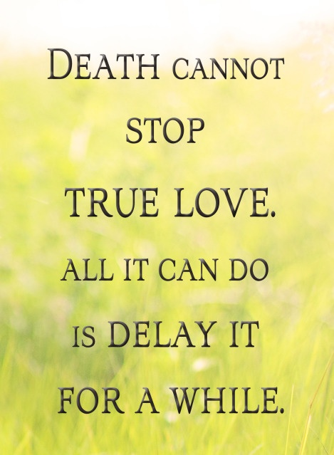 Death cannot stop TRUE LOVE. All it can do is delay it a little while. - The Princess Bride <3