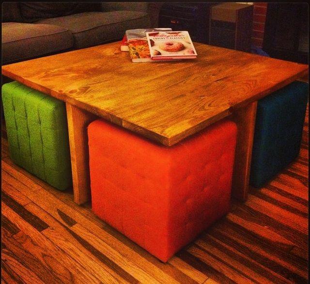 ottoman table squares