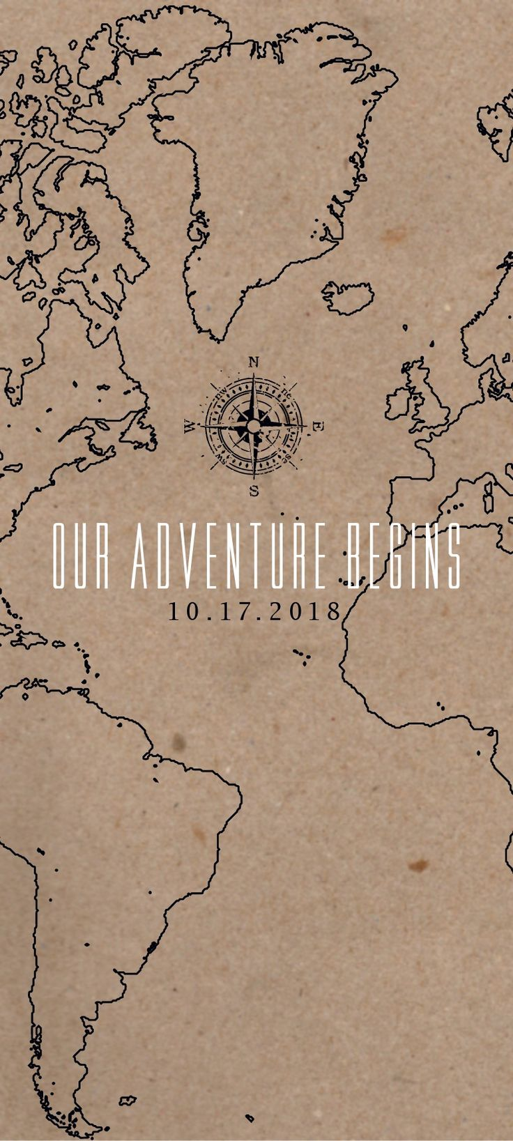 Royalty Free Map%0A The Adventure Begins Map Wedding Invitation