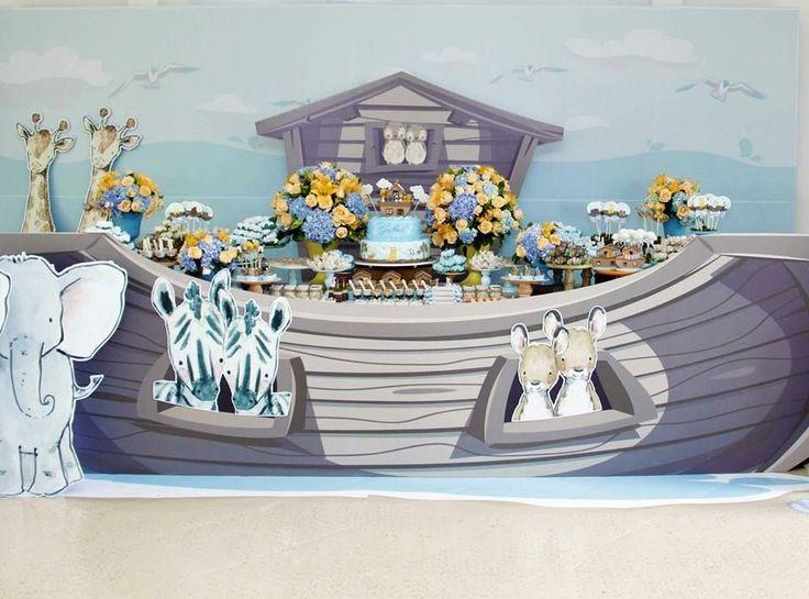 Amor a primeira vista por esta Festa Arca de Noé. Decoração Rachel Gomes. Lindas ideias e muita inspiração! Bjs, Fabiola Teles. ...