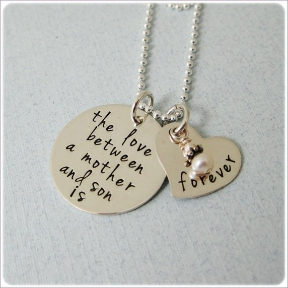Love Between Mother And Child Is Forever Necklace Son Daughter Hand Stamped S Baby Boy Pinterest