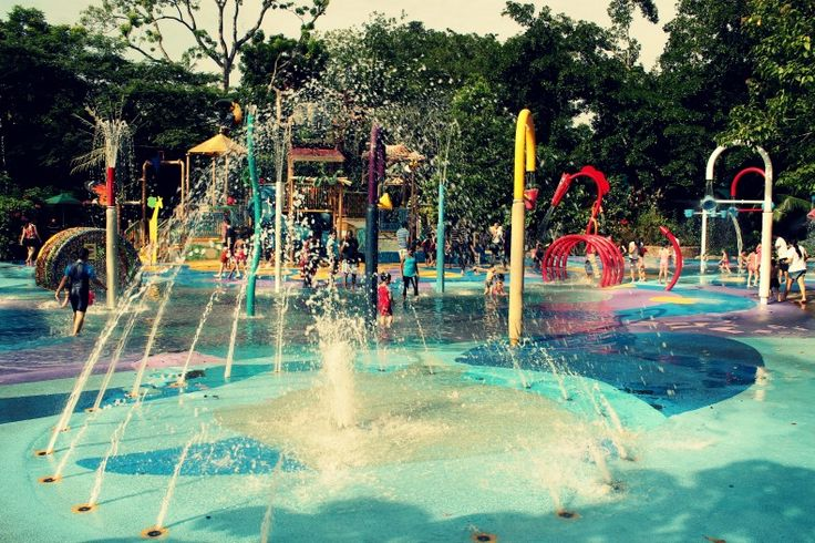 Going to the zoo doesn't mean you leave your swimsuit behind -- Water playgound at Singapore Zoo