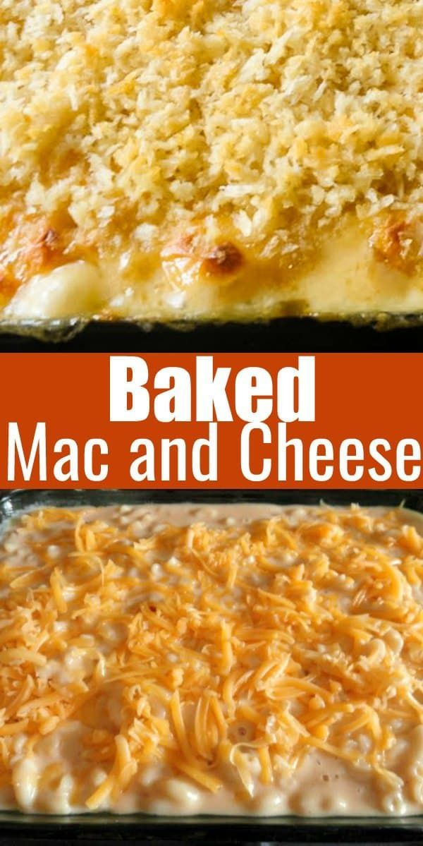 The Best Baked Mac And Cheese Creamy Macaroni And Cheese Is Super Cheesy And Creamy Wi Christmas Side Dish Recipes Macaroni And Cheese Mac And Cheese Homemade