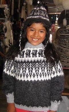 Grauer #Kinderpullover #Alpakitas aus #Peru, #Alpakawolle